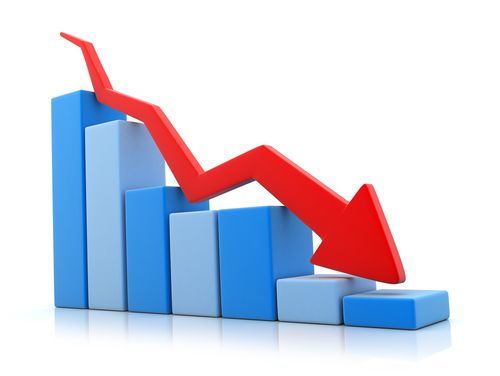 Graph showing trend www. Chart clipart downward