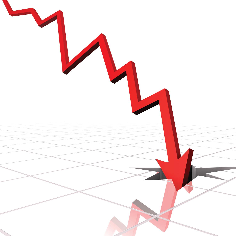 Crazy stupid stock market. Chart clipart downward