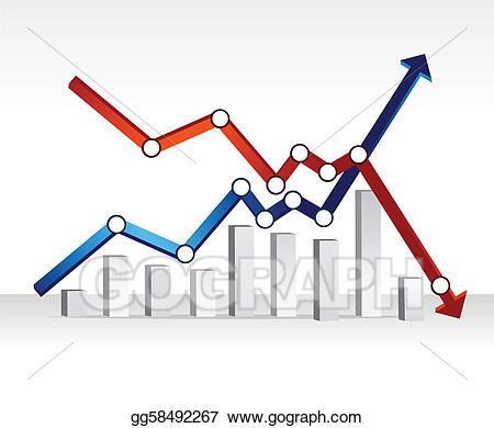Finance clipart finance chart. Vector financial illustration design