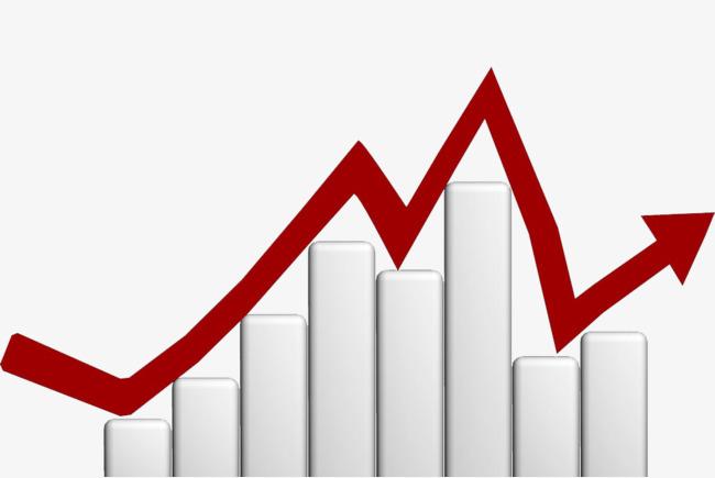 Financial charts trend three. Chart clipart finance chart