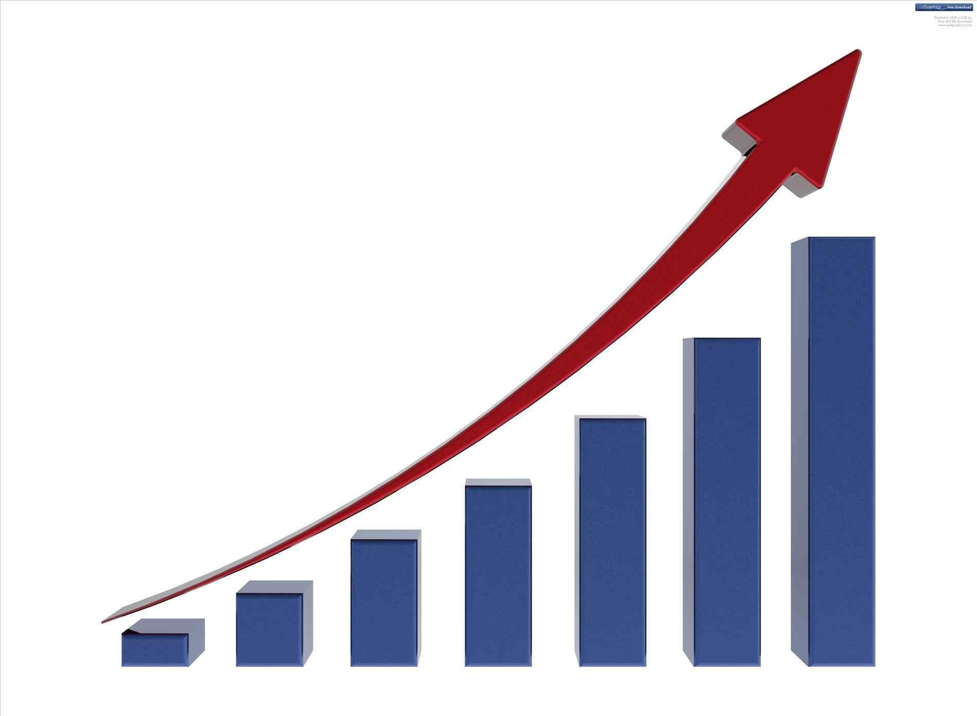 Growth rate pencil and. Chart clipart finance chart