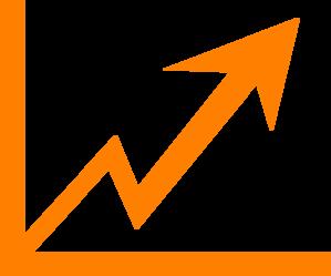 Arrow increase clip art. Chart clipart growth