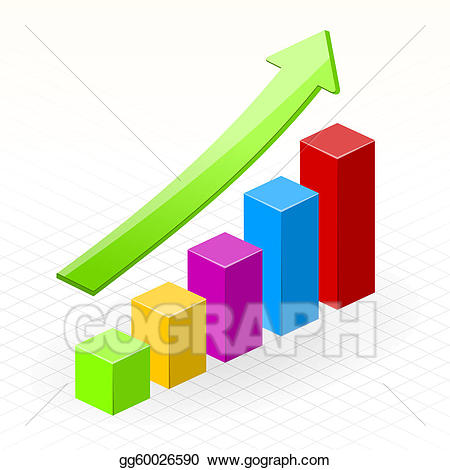 Eps illustration business success. Chart clipart growth
