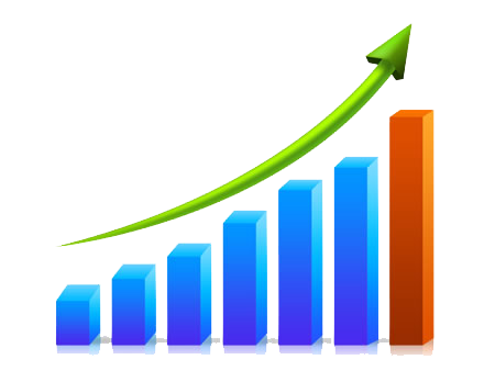 Free business png transparent. Growth clipart growth chart