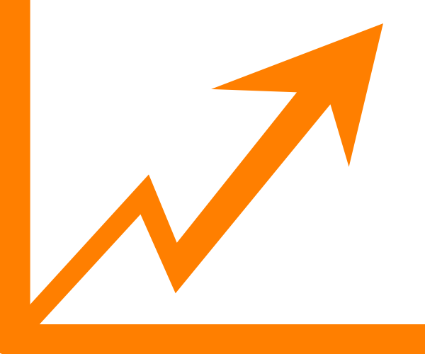 Arrow increase clip art. Chart clipart growth rate