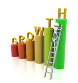 Chart clipart growth rate. Stock illustrations royalty free