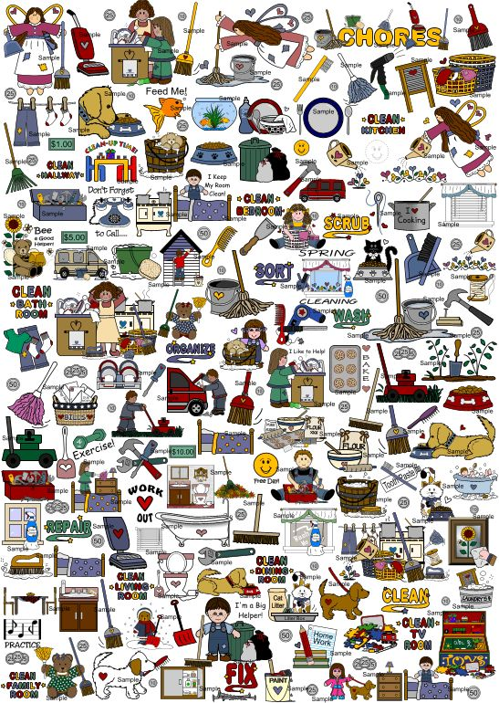 best chore images. Chart clipart kid