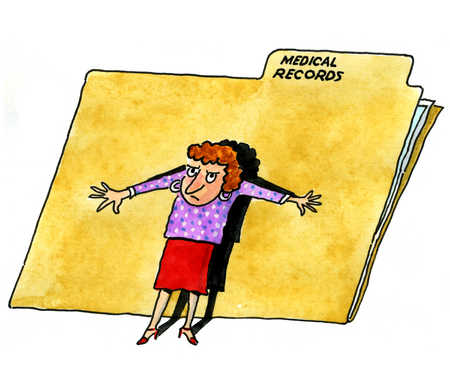 Chart clipart medical. Order your records steps