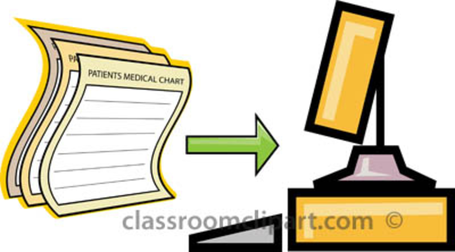 Patient records . Chart clipart medical