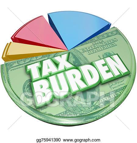 Chart clipart money chart. Stock illustrations tax burden