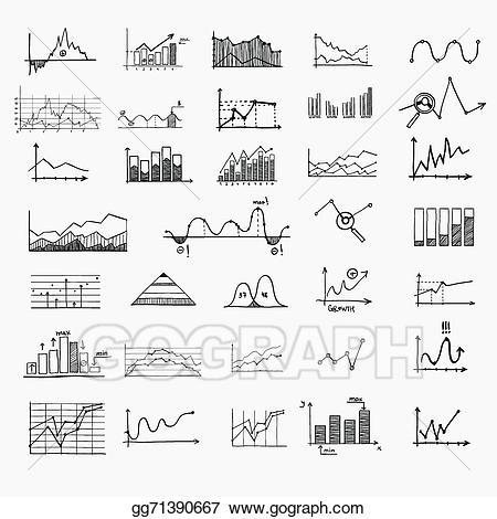 Chart clipart money chart. Vector business finance statistics