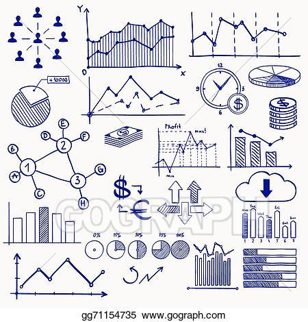 Vector business finance management. Chart clipart money chart