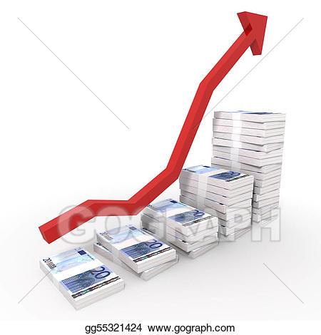 Chart clipart money chart. Clip art euro stock