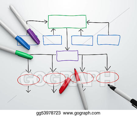 Chart clipart organization. Stock illustration illustrations