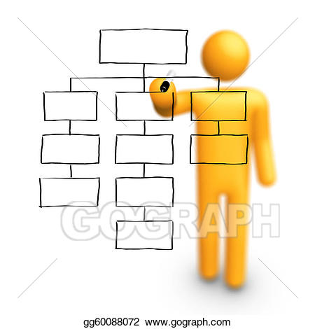 Chart clipart organization. Stock illustrations stick figure