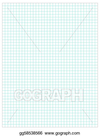 Chart clipart plain. Vector graph paper illustration