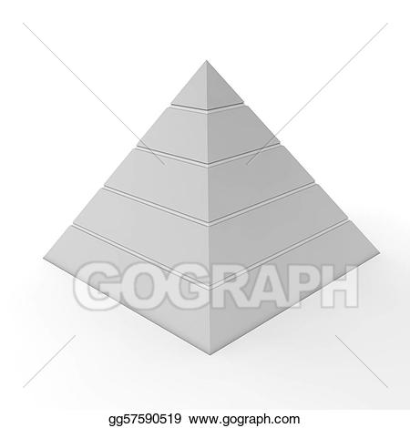 Chart clipart plain. Stock illustration pyramid five