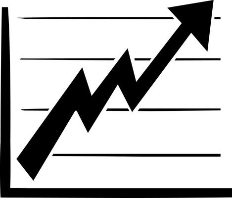 Sales graph views downloads. Chart clipart statistics