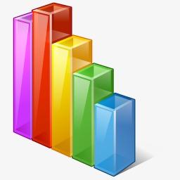 Chart clipart statistics. Data analysis trend bar