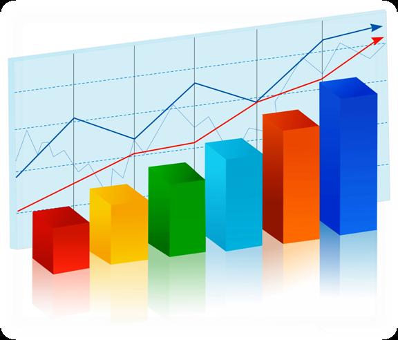 Statistic diagram . Chart clipart statistics