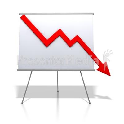 Chart clipart stock chart. Financial graph decrease signs