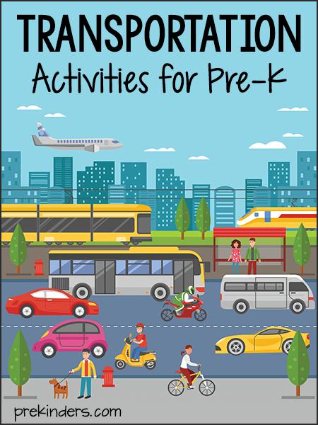 Theme prekinders unit activities. Chart clipart transportation