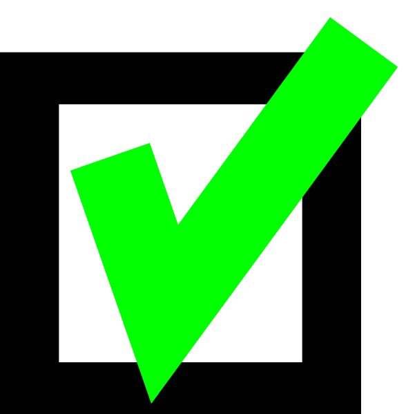 Green check clip art. Clipart definition validation