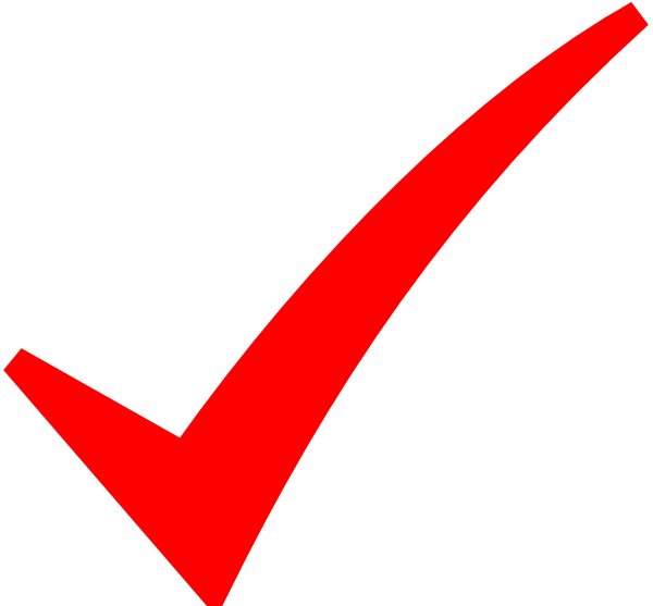 Check cliparts red. Checkmark clipart validation