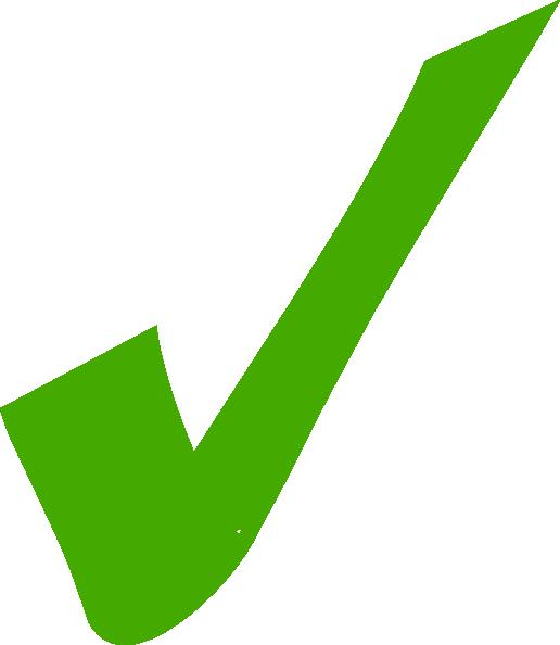 Green clip art at. Check clipart right mark