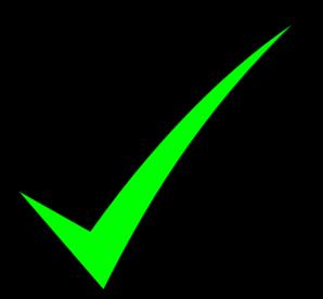 Check clipart right mark. Green clip art at