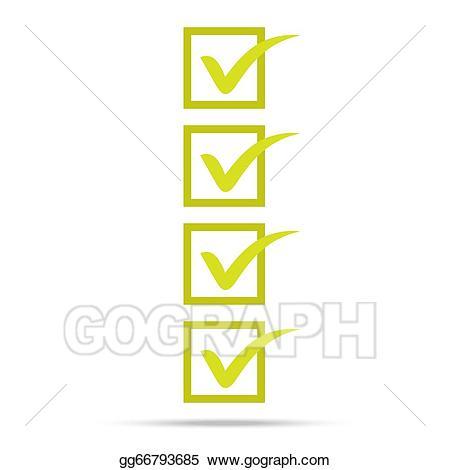 Stock illustration popular list. Check clipart right mark