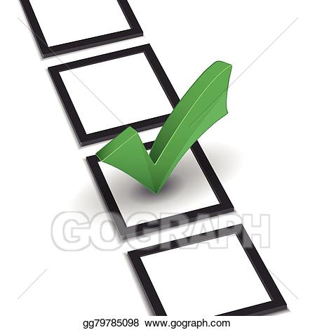Check clipart right mark. Vector stock list with