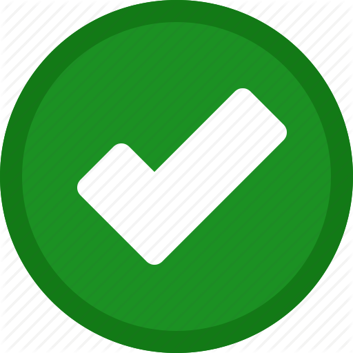 Check mark icon png. Interface elements by timothy