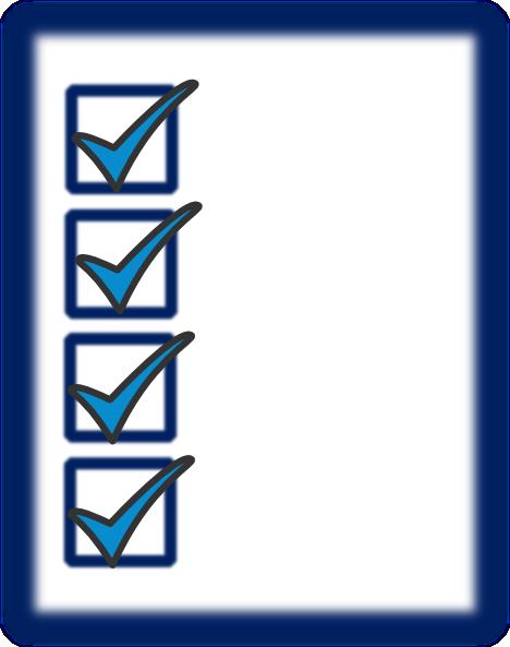 Clip art at clker. Checklist clipart