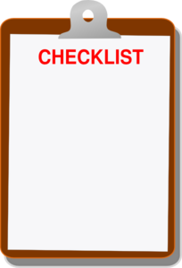 Clip art at clker. Clipboard clipart checklist