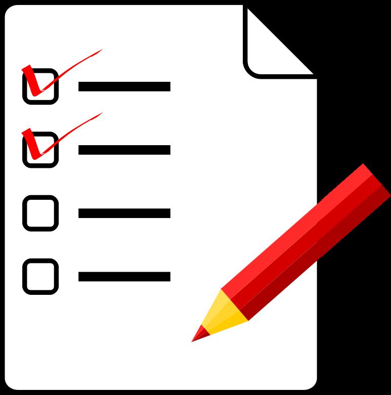 Checklist medium image png. Organized clipart task