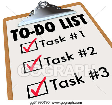Drawing to do list. Rules clipart priority