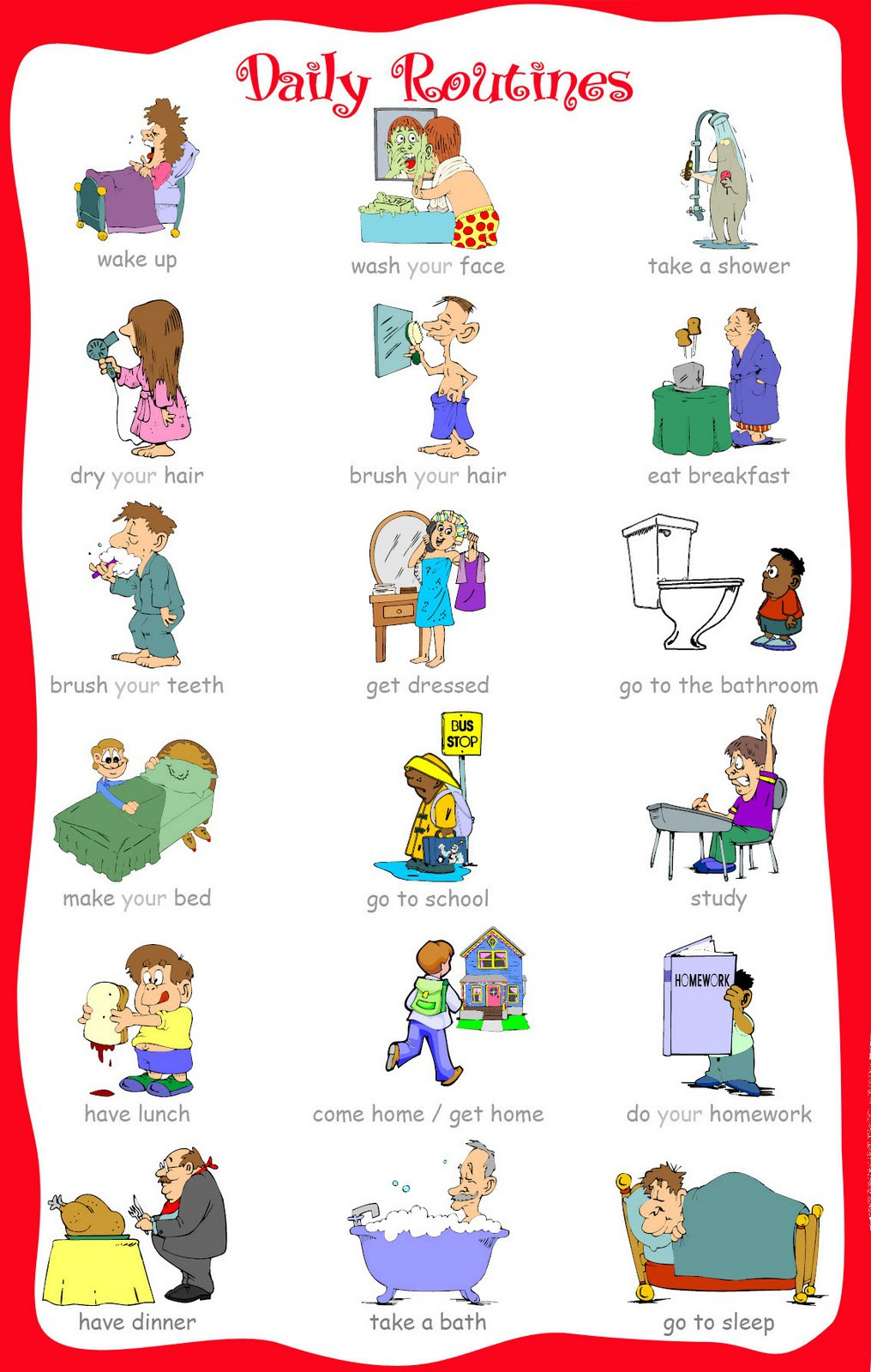 The ultimate list of. Activities clipart daily routine