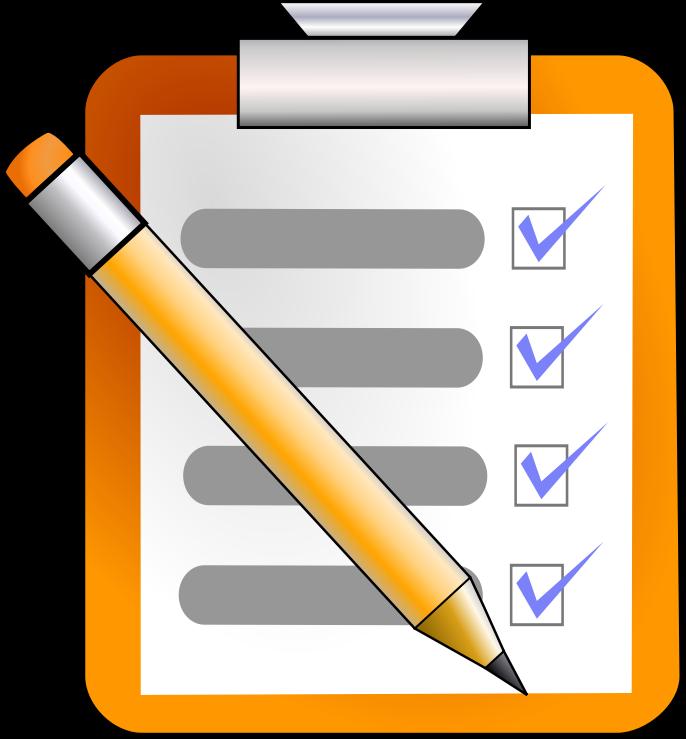 Schedule clipart class registration. Checklist