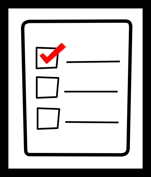 Checklist clipart icon. Check list clip art
