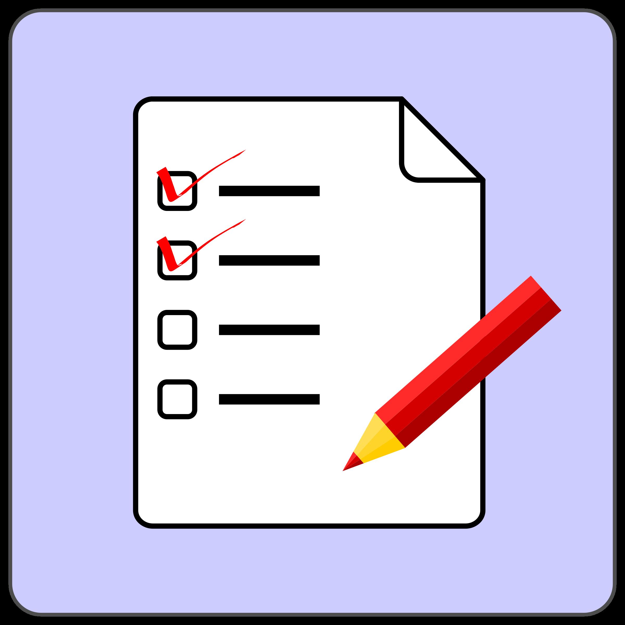 Big image png. Checklist clipart icon