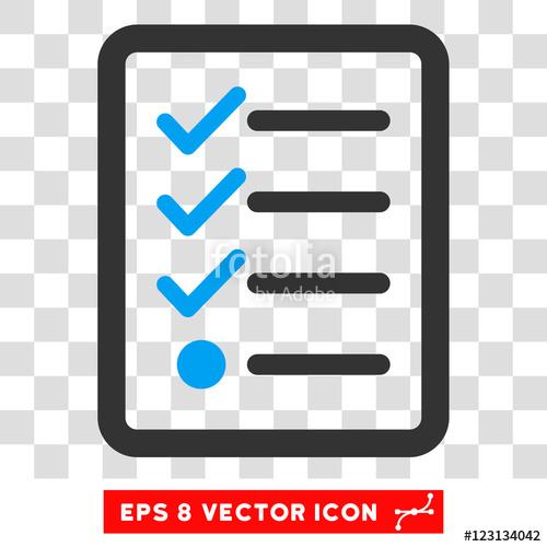 Checklist clipart icon. Vector eps illustration style