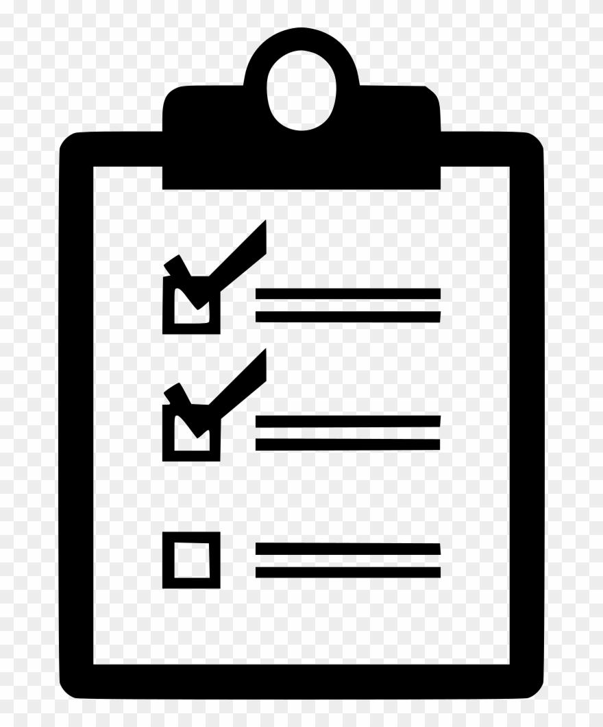 Verification of delivery list. Checklist clipart icon