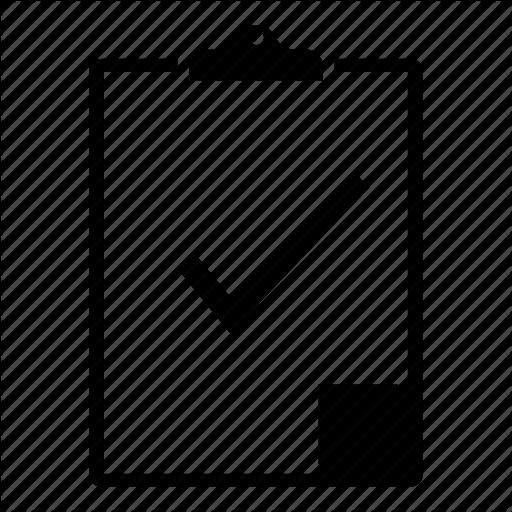 Clipboard by nikita kozin. Checklist clipart icon