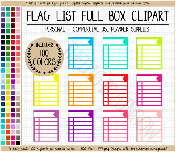 Sale full box list. Checklist clipart planner