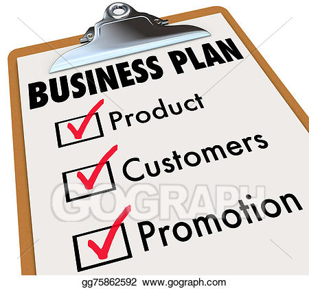 Stock illustration business plan. Planning clipart planning preparation