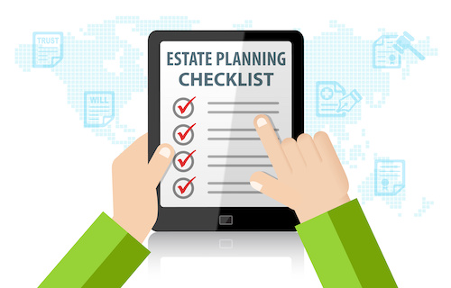 Estate for skvarna law. Planning clipart checklist