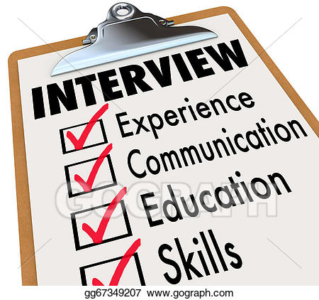Artist clipart ability. Stock illustration interview checklist