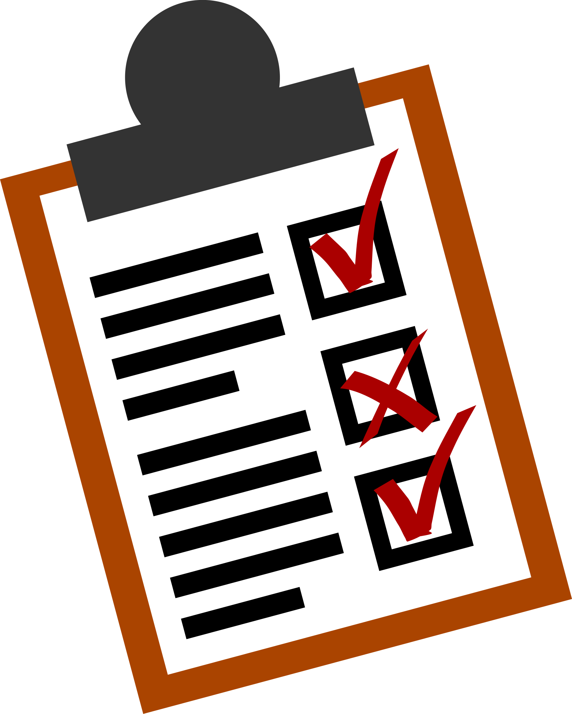 Computer clipart checklist. To do list big