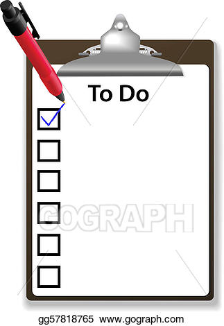 Clipboard clipart to do. Vector illustration check mark